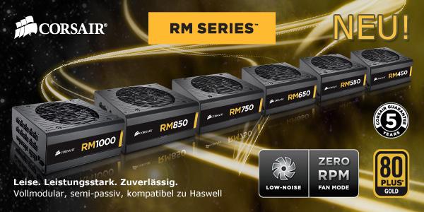 Die neue RM Serie von Corsair - jetzt bei Mindfactory!