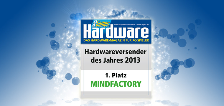 PCGH Leserwahl 2013 Mindfactory 1. Platz