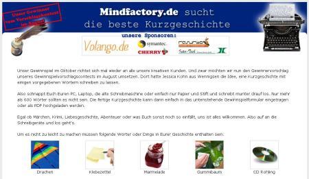 Kurzgeschichten Wettbewerb auf Mindfactory.de