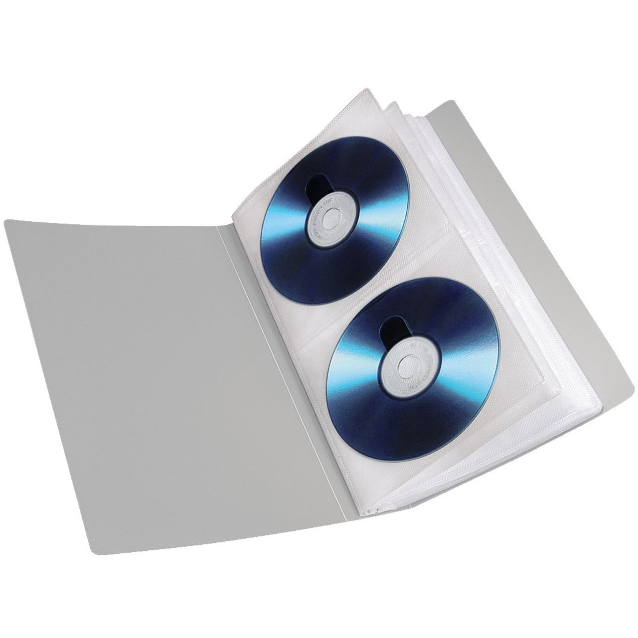 hama 48er silberne cd dvd rom mappe f r aufbewahrung. Black Bedroom Furniture Sets. Home Design Ideas