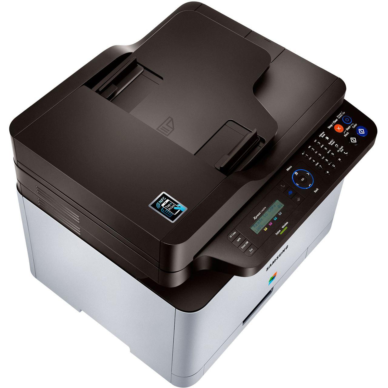 samsung xpress c460fw farblaser drucken scannen kopieren faxen. Black Bedroom Furniture Sets. Home Design Ideas