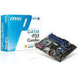 MSI G41M-P33 Combo Intel G41 So.775 Dual Channel DDR2 / DDR3 mATX Retail