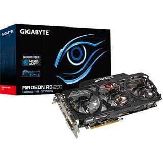 4096MB Gigabyte Radeon R9 290 Windforce 3X OC Aktiv PCIe 3.0 x16 (Retail)