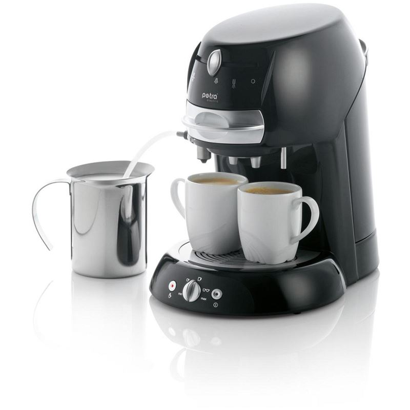 petra electric artenso latte kaffeepadmaschine km sw. Black Bedroom Furniture Sets. Home Design Ideas