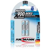 ANSMANN Photo-Batterie AAA / Micro Nickel-Metall-Hydrid 900 mAh 2er Pack