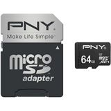 64 GB PNY Turbo Performance microSDXC Class 10 U3 Retail inkl. Adapter auf SD