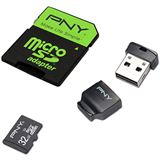32 GB PNY High Performance microSDHC Class 10 Retail inkl. USB-Adapter und Adapter auf SD