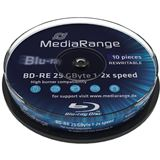MediaRange BD-RE 25 GB 10er Spindel (MR501)