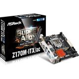 ASRock Z170M-ITX/ac Intel Z170 So.1151 Dual Channel DDR4 Mini-ITX Retail