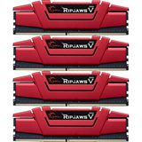 32GB G.Skill RipJaws V rot DDR4-2666 DIMM CL15 Quad Kit