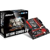 ASRock H110M Combo-G Intel H110 So.1151 Dual Channel DDR3 / DDR4 mATX Retail