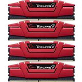 64GB G.Skill RipJaws V rot DDR4-2666 DIMM CL15 Quad Kit