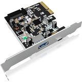ICY BOX IB-U31-03 2 Port PCIe x4 inkl. Low Profile Slotblech / Low Profile retail