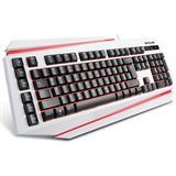 DeLUX Tastatur K9500 Keyboard Gaming Layout US retail weiß