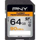 64 GB PNY Turbo Performance 90MB/s SDXC Class 10 U1 Retail