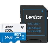 64 GB Lexar High-Performance 300x microSDXC Class 10 U1 Retail inkl. Adapter