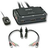 Lindy HDMI KVM Switch Compact USB 2.0 Audio 2 Port
