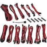 BitFenix Alchemy 2.0 PSU Cable Kit, SSC-Series - schwarz/rot