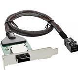 ® InLine SAS HD low profile PCI Slotblech mit Kabel, ext. SFF-8088 auf int. SFF-8643, 0,5m