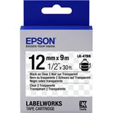 Epson TAPE - LK4TBN CLEAR BLK/