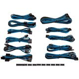 Corsair Premium Pro Sleeved Kabel-Set - blau/schwarz
