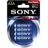 Sony AM4-B4D Alkaline Stamina PLUS AAA / Micro (4er Pack)