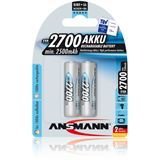 ANSMANN HR6 AA / Mignon Nickel-Metall-Hydrid 2700 mAh 2er Pack