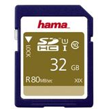 32 GB Hama Memory Fast 80MB/s SDHC Class 10 UHS-I Retail