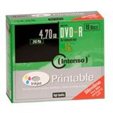 Intenso DVD-R 4.7 GB bedruckbar 10er Slimcase (4801652)