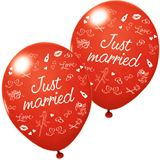 "Susy Card Luftballons ""Just married"", rot"