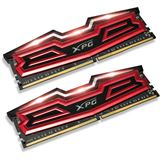 16GB ADATA XPG Dazzle LED rot/schwarz DDR4-3000 DIMM CL16 Dual Kit