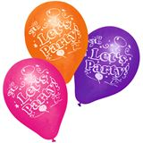 SUSY CARD Luftballons Let's Party farbig