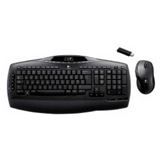 Logitech Cordless Desktop MX3200 Tastatur+Maus Schwarz Deutsch PS2/USB