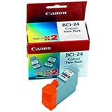 Canon Tinte BCI-24C 2er-Pack 6882A009 cyan, magenta, gelb