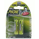ANSMANN DECT AA / Mignon Nickel-Metall-Hydrid 800 mAh 2er Pack