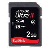 2GB SanDisk SDSDH-002G-E11 Ultra II Secure Digital SD Karte