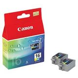 Canon Tinte BCI-16 2er-Pack 9818A002 cyan, magenta, gelb