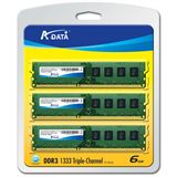 6GB ADATA Value DDR3-1333 DIMM CL9 Tri Kit