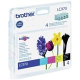 Brother Tinte LC-970 Value Pack LC970VALBP schwarz, cyan, magenta, gelb
