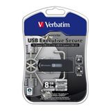 8 GB Verbatim Store `n` Go Executive Secure silber USB 2.0