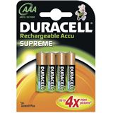 Duracell Supreme HR03 Nickel-Metall-Hydrid 1000 mAh 4er Pack