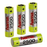 Hama HR6 AA / Mignon Nickel-Metall-Hydrid 2500 mAh 4er Pack