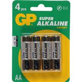 GP Batteries Batterie GP Alkaline AA 4er Pack