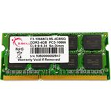 4GB G.Skill SQ Series DDR3-1333 SO-DIMM CL9 Single