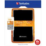"500GB Verbatim Store and Go Portable 53029 2.5"" (6.4cm) USB 3.0 schwarz"