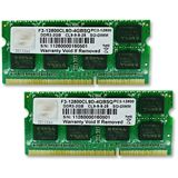4GB G.Skill SQ Series DDR3-1600 SO-DIMM CL9 Dual Kit