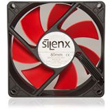 SilenX Effizio Quiet Fan Series 80x80x25mm 1700 U/min 15 dB(A) schwarz/rot