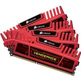 8GB Corsair Vengeance Red DDR3-1600 DIMM CL8 Quad Kit