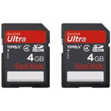 4 GB SanDisk Doppelpack Color Edition SDHC Class 2 Retail