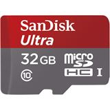 32 GB SanDisk Ultra microSDHC UHS-I Retail inkl. Adapter